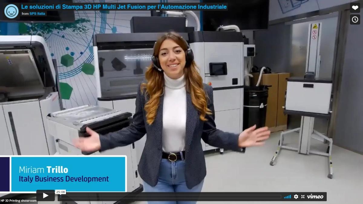 Le soluzioni di Stampa 3D HP Multi Jet Fusion per l'Automazione Industriale