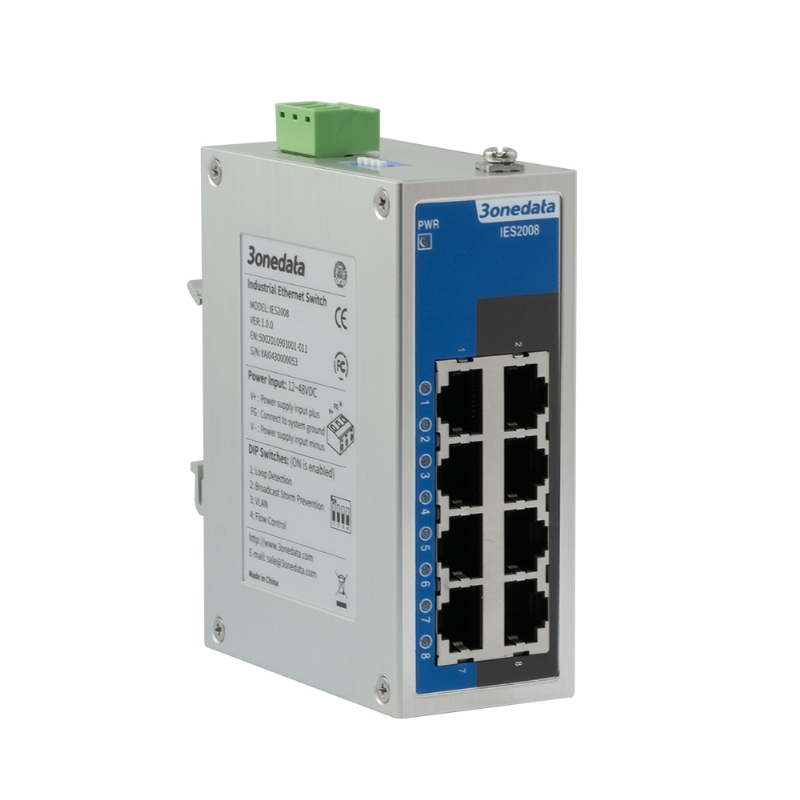 8-port 100M Light-managed Industrial Ethernet Switch