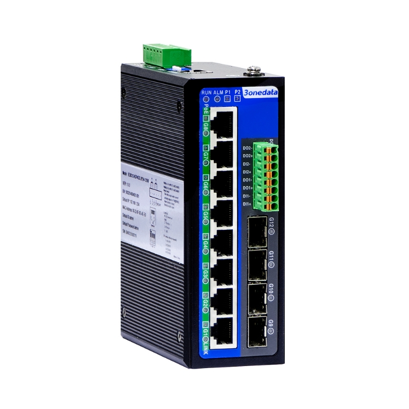 Full Gigabit Ethernet Switch(PoE optional, I/O ports optional)