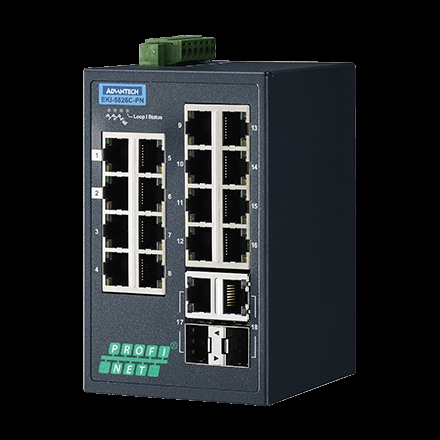 EKI-5626C-PN, Managed Ethernet Switch with PROFINET