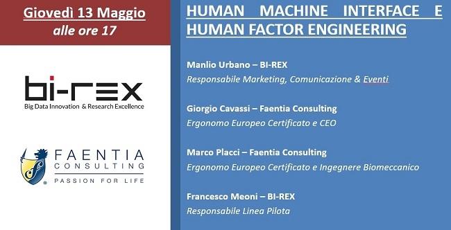 Webinar: Human Machine Interface e Human Factor Engineering