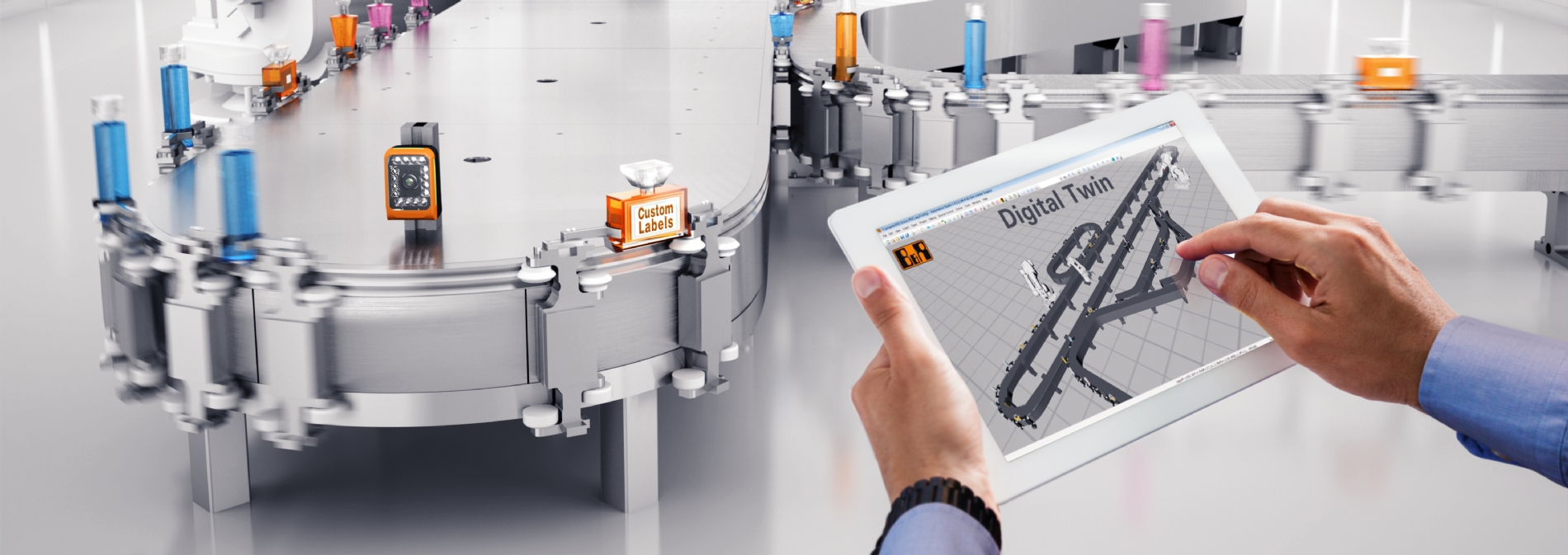 Automated by B&R - ACOPOStrak: Makro Labelling - revolutionizing rotary labelling