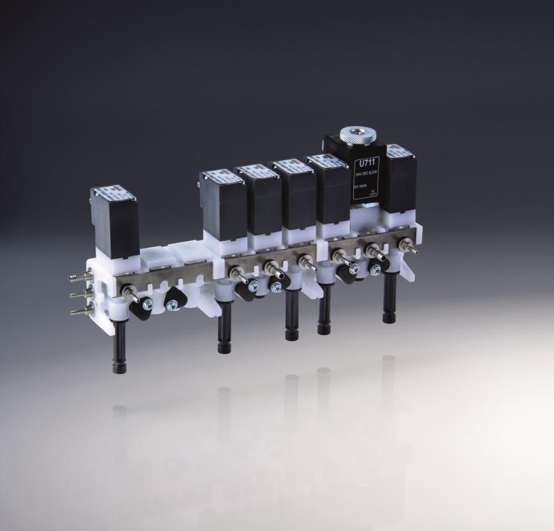 Manifold multicanale per fluidi e per riuniti dentali SERIE DB