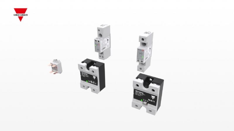 RM1A / RAM1A / RGS1 - Relè statici per montaggio a pannello / dissipatore