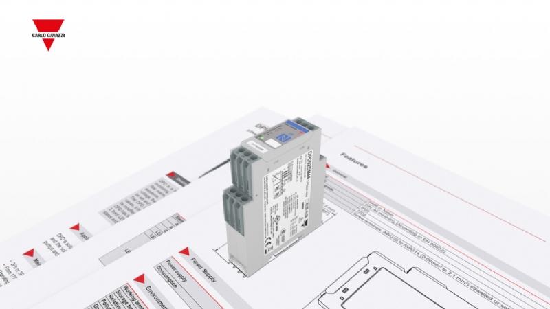 DPD02 - Relè di monitoraggio tensione frequenza trifase con NFC