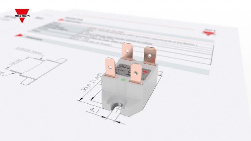 RF1A / RF1B - Relè statico miniaturizzato