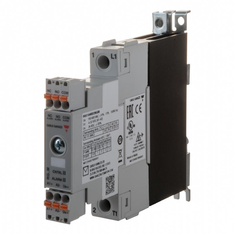 04. RG..M - Relè statico monofase per monitoraggio del carico
