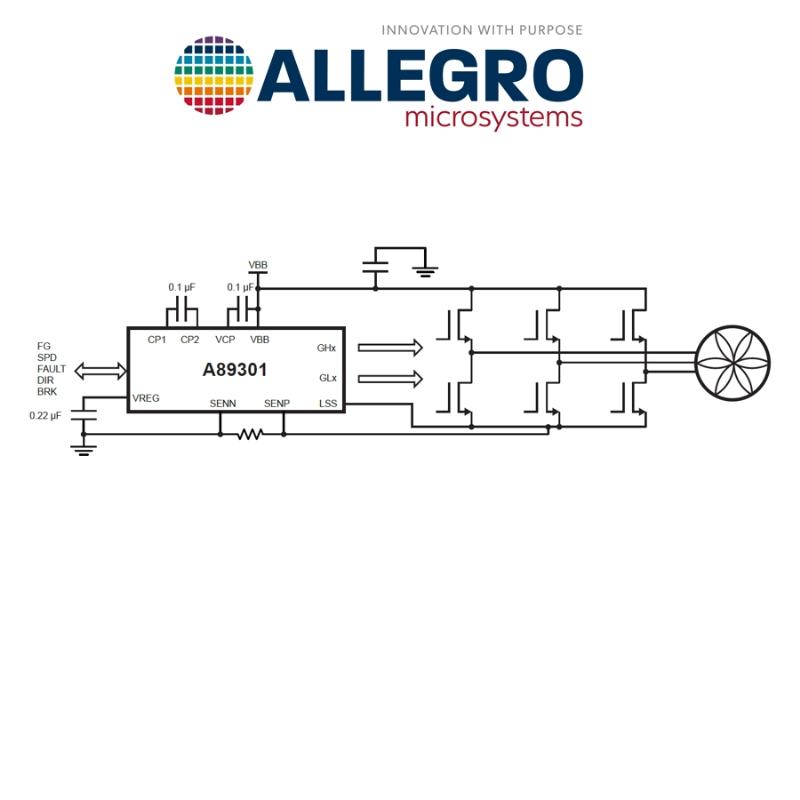 BLDC Motor Controller driver A89301