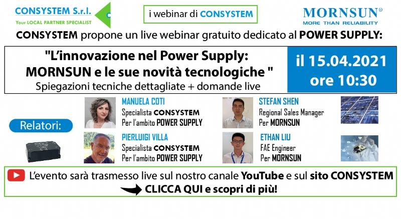 L'innovazione nel Power Supply – MORNSUN e le sue novità tecnologiche: alimentatori AC/DC - DC-DC ⚡