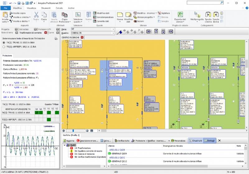Ampère Professional 2021 - Calcolo di impianti elettrici