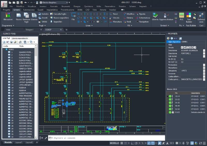iDEA - CAD elettrico per automazione industriale