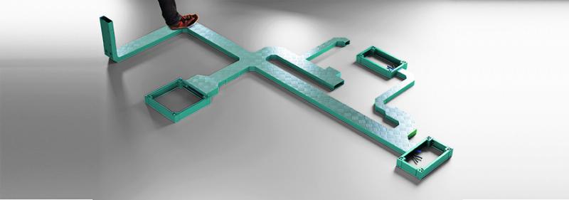 Soluzioni ERIVI la soluzione di canalizzazione cavi a pavimento