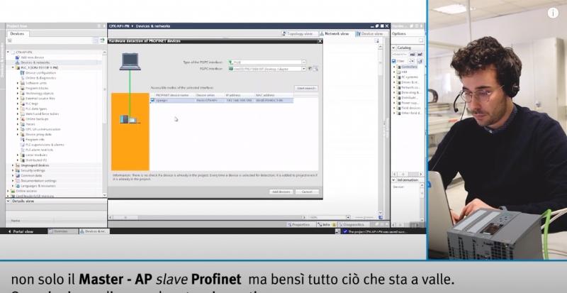 Sistema Remote I/O CPX-AP-I integrato in Siemens