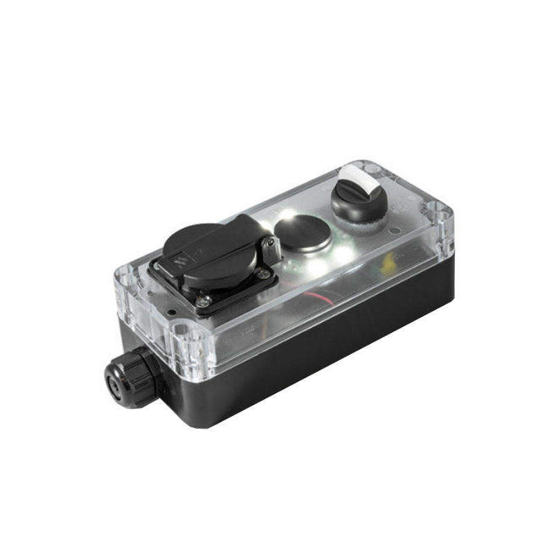 Pulsantiera di manutenzione con 50/5 LUX luce bianca, selettore a manopola e presa