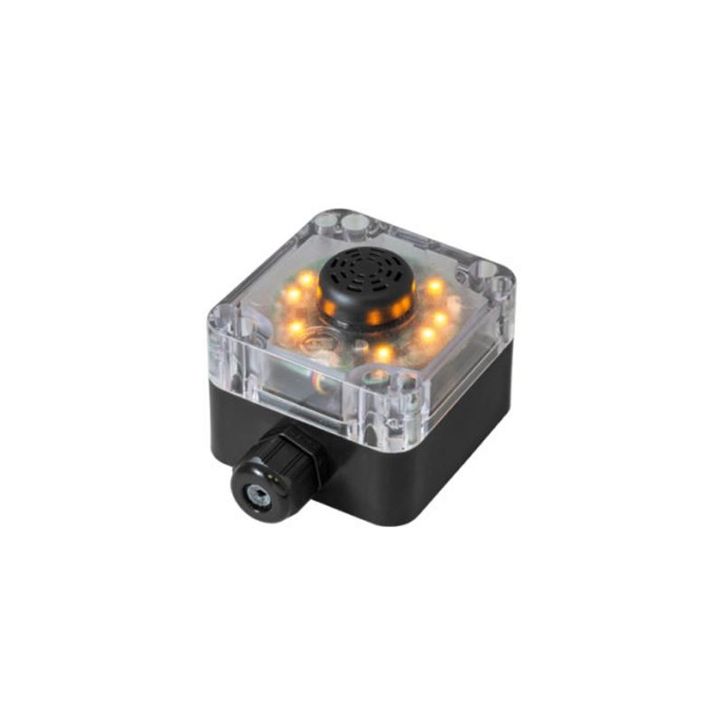 Dispositivo luminoso con luce lampeggiante gialla e buzzer continuo