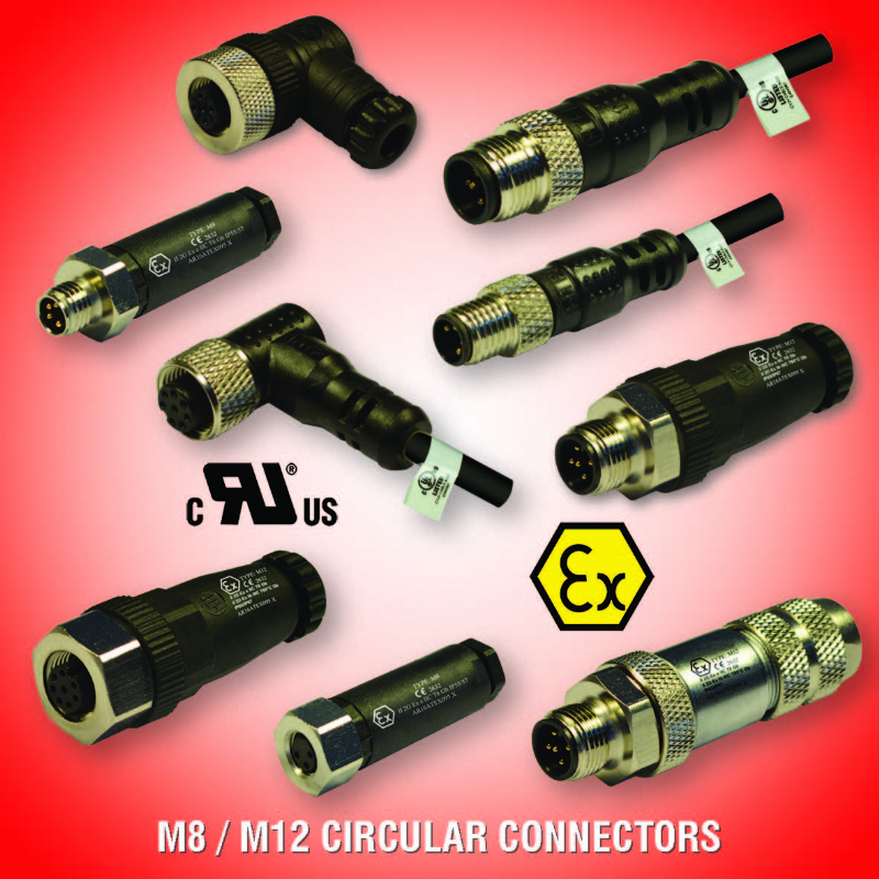 M8-M12  CIRCULAR CONNECTORS  ATEX APPROVED