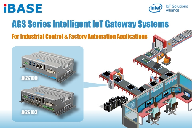 AGS10xT  - IBASE  IoT Gateway DIN rail PC con  Intel® Atom™ x7/x5, Pentium® & Celeron® Processors