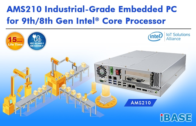 AMS210 Controllo automatico con CPU Intel® Core™ 8°/9° Generazione Coffe Lake Refresh