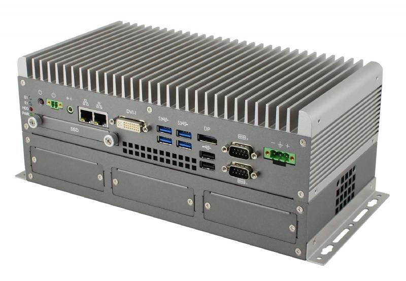 AMS301 BOX PC fanless Intel® Core ™ di 6° gen. Skylake/7° gen. Kabylake