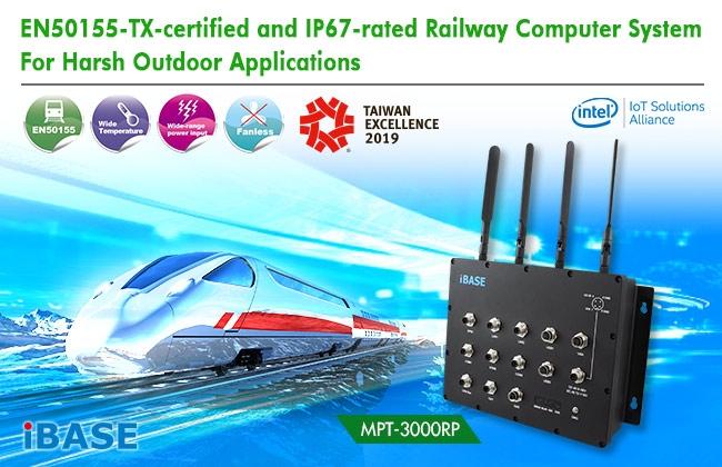 MPT-3000RP Computer Railway certificato EN50155/EN45545