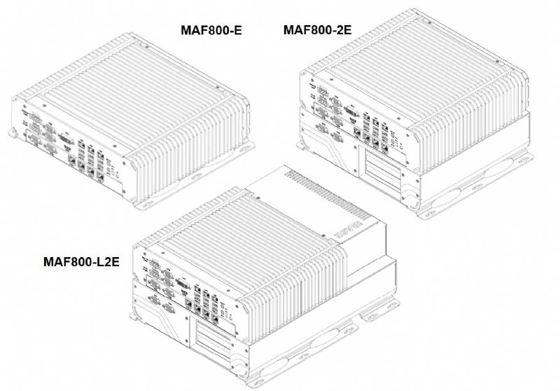 MAF800 - BOX PC flessibile per Automazione e Visione 8th Gen. Intel® Xeon® E/ Core™ i7/i5/i3