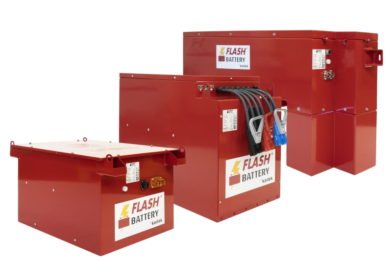 Flash Battery, Batteria al litio per macchine industriali