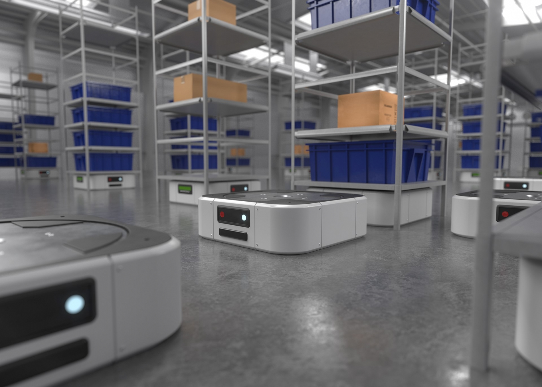 Smart Factory - One Solution for AGVs and Mobile Robots