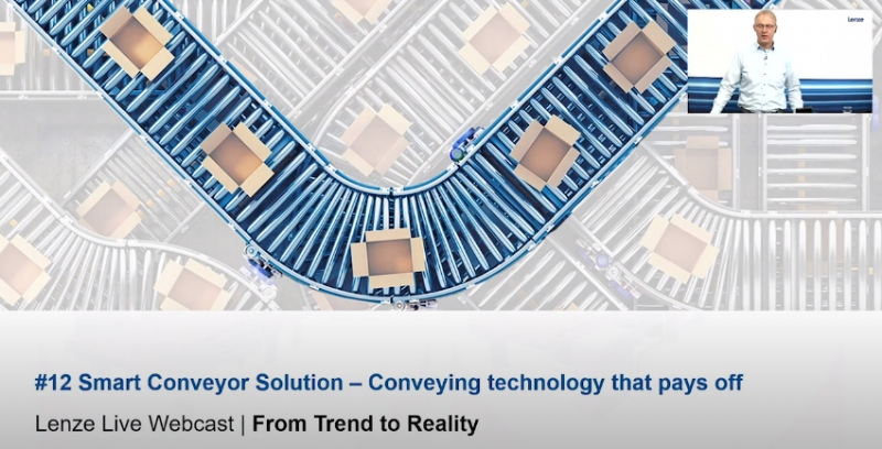 Lenze Live Webcast – #12 Smart Conveyor Solution