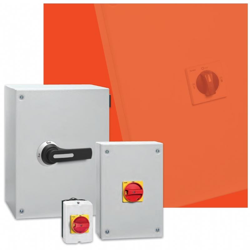 Interruttori sezionatori in contenitore metallico ed acciaio inox