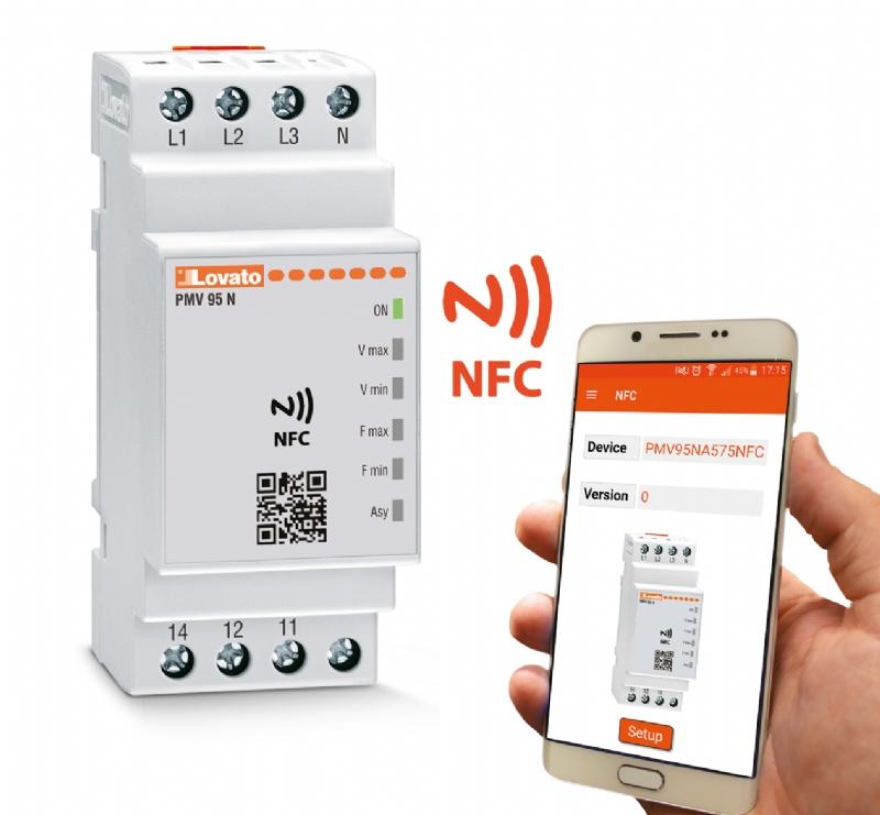 Relè di protezione con tecnologia NFC e APP