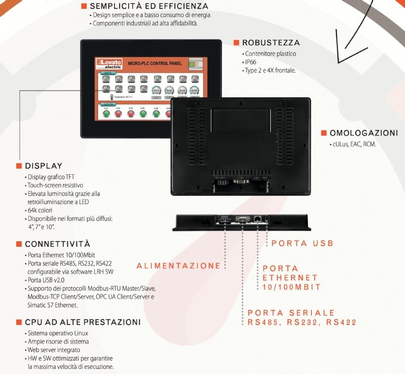HMI (Human Machine Interface) - serie LRH