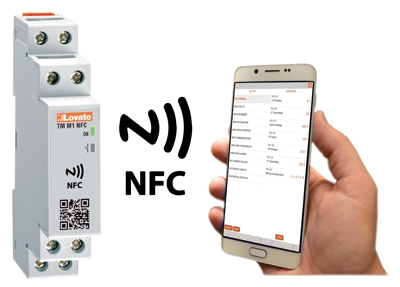 Temporizzatore, contaore e contatore con tecnologia NFC e APP