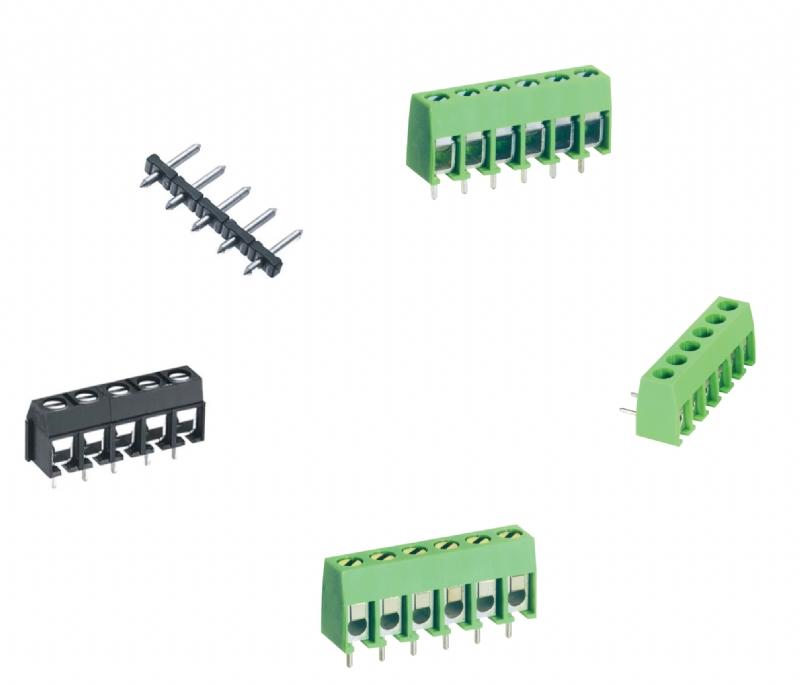 Morsettiere per circuito stampato con lamella salvafilo