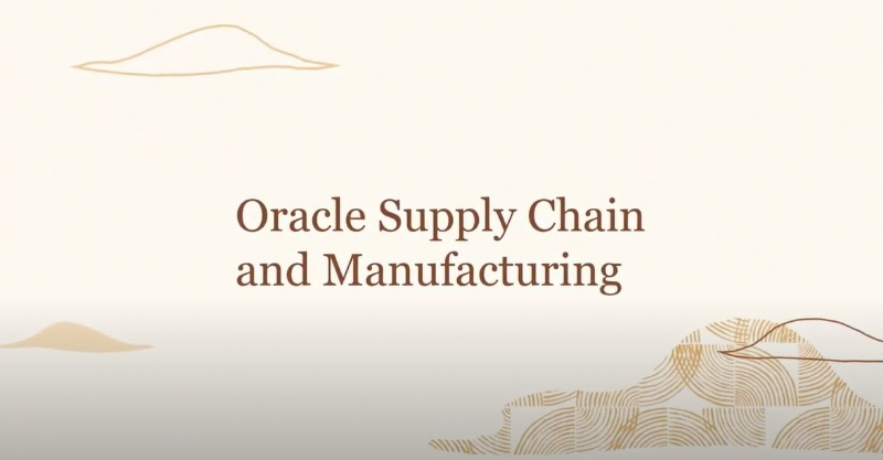 Oracle Supply Chain and Manufacturing