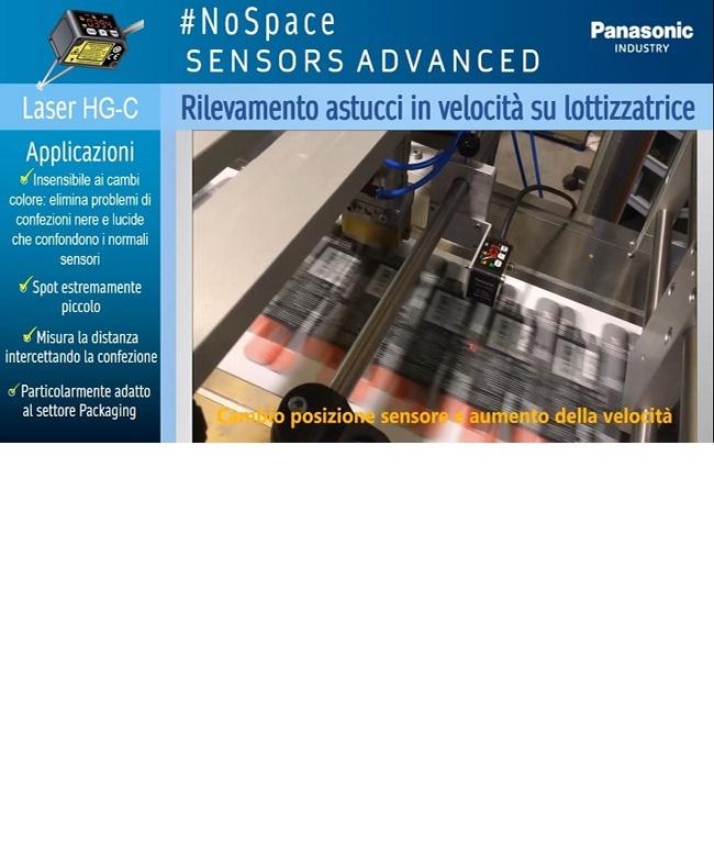 #NoSpace SENSORS ADVANCED - Rilevamento astucci in velocità su macchina lottizzatrice