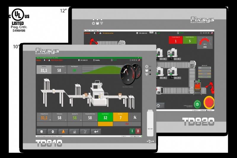 HMI Touchscreen integrating Soft-PLC