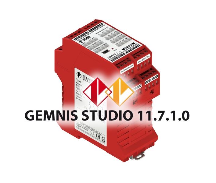Moduli di sicurezza programmabili serie GEMNIS e software per la programmazione GEMNIS Studio