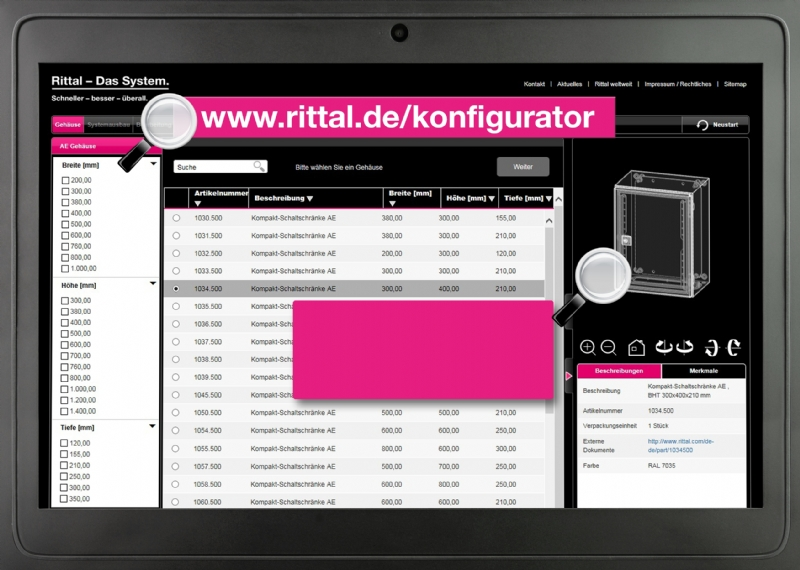 Rittal Configuration System (RiCS)
