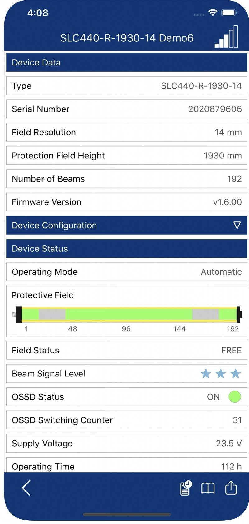Cortine e griglie ottiche di sicurezza IP69K