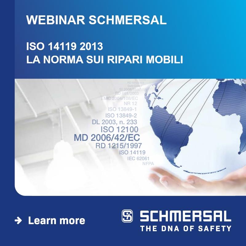 WEBINAR SCHMERSAL: ISO 14119 2013, la norma sui ripari mobili