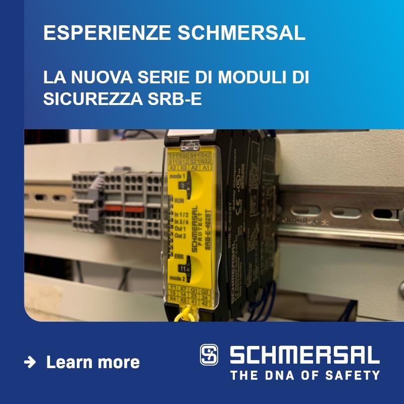 WEBINAR SCHMERSAL: La nuova serie di moduli di sicurezza SRB-E