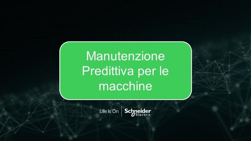 Manutenzione Predittiva per le macchine