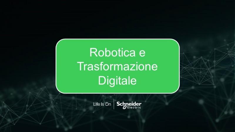Robotica e Trasformazione Digitale
