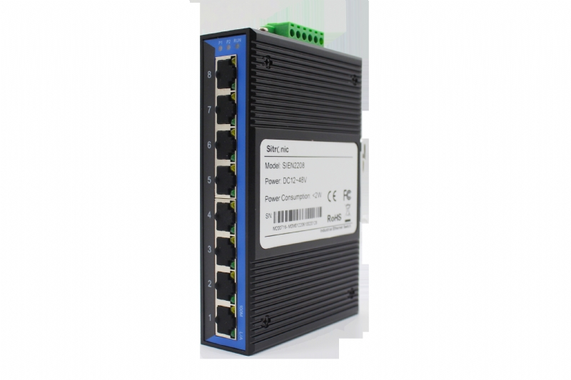 Switch ethernet unmanaged 8 porte