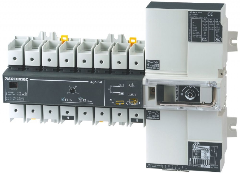 Socomec Transfer Switches, the widest range on the market.