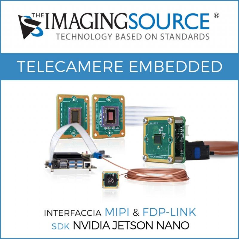 Telecamere embedded MIPI - Specifiche tecniche