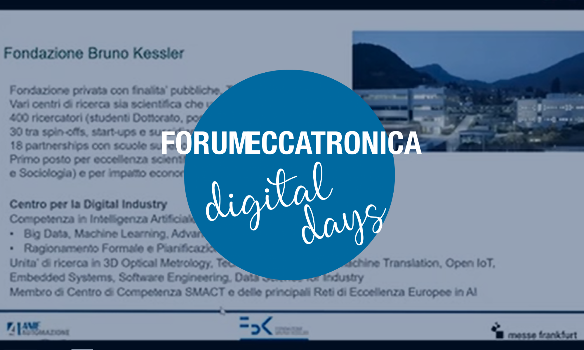 Introduzione a Forum Meccatronica Digital Days
