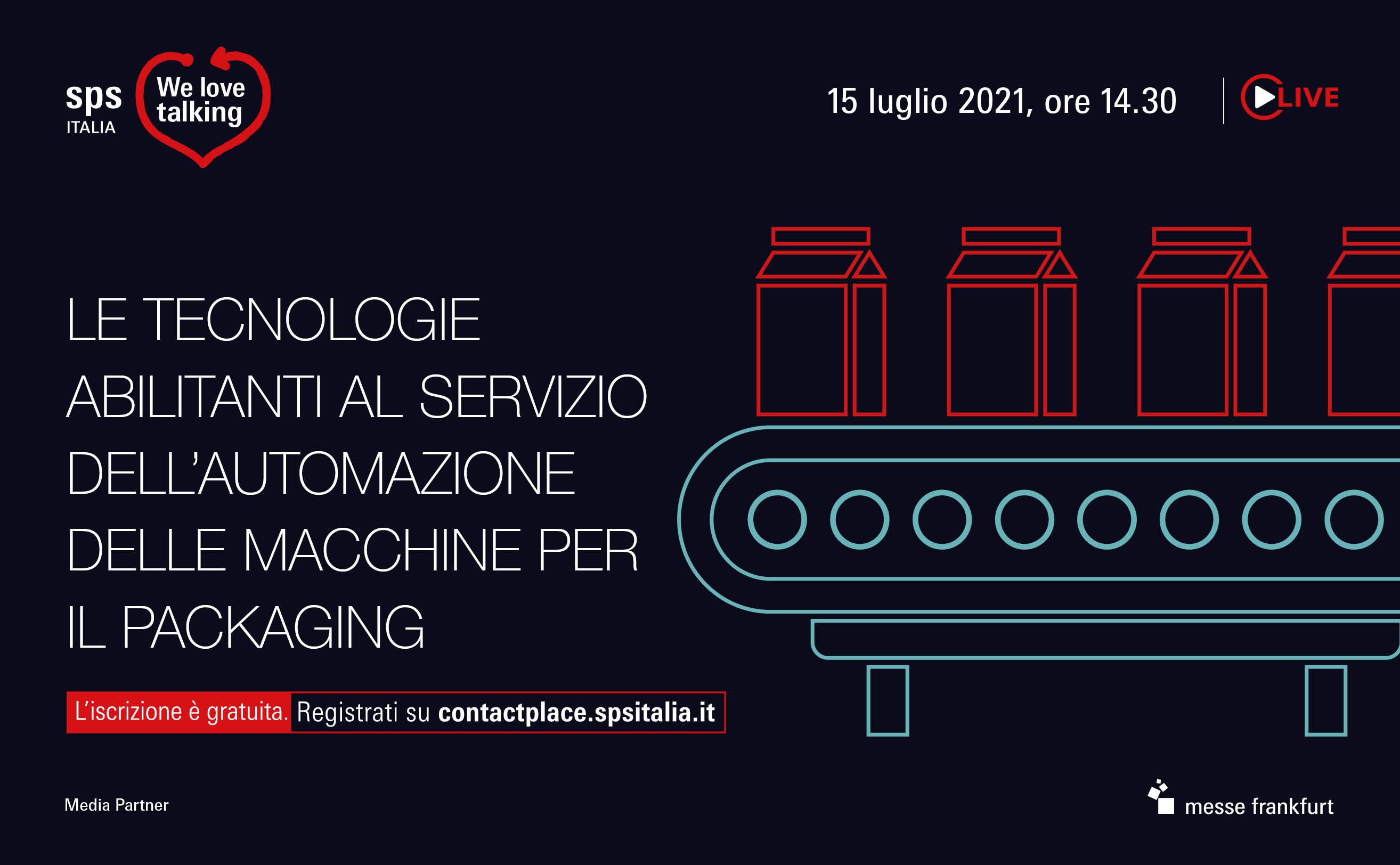 Le tecnologie abilitanti al servizio dell'automazione delle macchine per il packaging